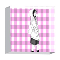 Cute Anime Girl 5  x 5  Acrylic Photo Blocks