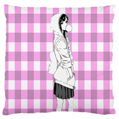 Cute Anime Girl Large Flano Cushion Case (Two Sides)