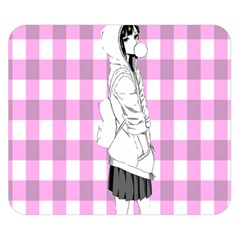 Cute Anime Girl Double Sided Flano Blanket (Small)