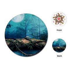 Fantasy nature  Playing Cards (Round)