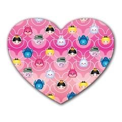 Alice In Wonderland Heart Mousepads