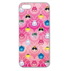 Alice In Wonderland Apple Seamless iPhone 5 Case (Clear)