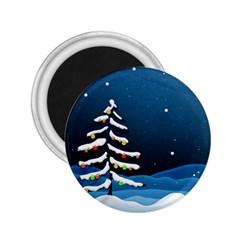Christmas Xmas Fall Tree 2.25  Magnets