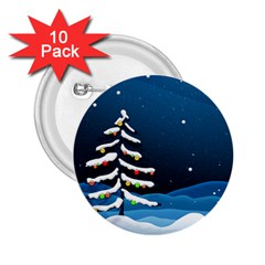 Christmas Xmas Fall Tree 2.25  Buttons (10 pack)