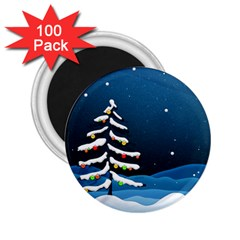 Christmas Xmas Fall Tree 2.25  Magnets (100 pack)