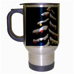 Christmas Xmas Fall Tree Travel Mug (Silver Gray)