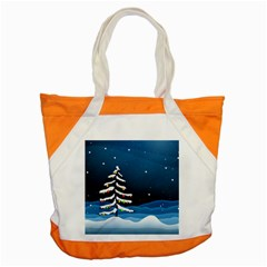 Christmas Xmas Fall Tree Accent Tote Bag