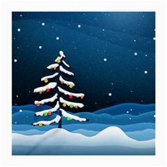 Christmas Xmas Fall Tree Medium Glasses Cloth