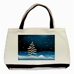 Christmas Xmas Fall Tree Basic Tote Bag (Two Sides)