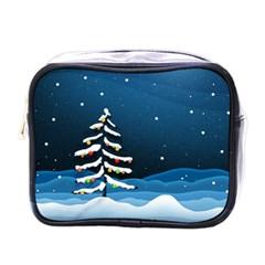 Christmas Xmas Fall Tree Mini Toiletries Bags