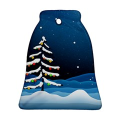 Christmas Xmas Fall Tree Ornament (Bell)