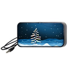 Christmas Xmas Fall Tree Portable Speaker (Black)