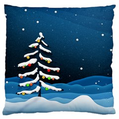 Christmas Xmas Fall Tree Large Cushion Case (One Side)