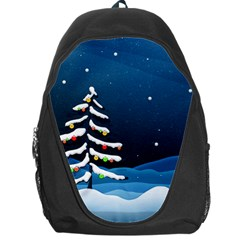 Christmas Xmas Fall Tree Backpack Bag
