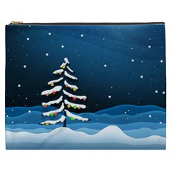Christmas Xmas Fall Tree Cosmetic Bag (XXXL)