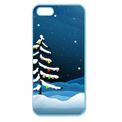 Christmas Xmas Fall Tree Apple Seamless iPhone 5 Case (Color)