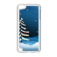 Christmas Xmas Fall Tree Apple iPod Touch 5 Case (White)