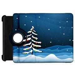 Christmas Xmas Fall Tree Kindle Fire HD 7