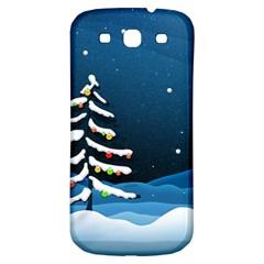 Christmas Xmas Fall Tree Samsung Galaxy S3 S III Classic Hardshell Back Case