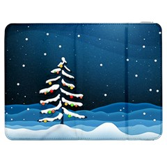 Christmas Xmas Fall Tree Samsung Galaxy Tab 7  P1000 Flip Case