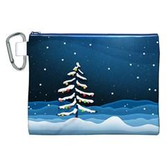 Christmas Xmas Fall Tree Canvas Cosmetic Bag (XXL)