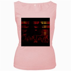 Christmas Advent Gloss Sparkle Women s Pink Tank Top
