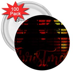 Christmas Advent Gloss Sparkle 3  Buttons (100 pack)