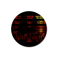 Christmas Advent Gloss Sparkle Rubber Coaster (Round)