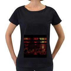Christmas Advent Gloss Sparkle Women s Loose-Fit T-Shirt (Black)