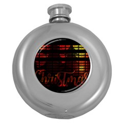 Christmas Advent Gloss Sparkle Round Hip Flask (5 oz)