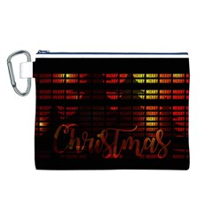 Christmas Advent Gloss Sparkle Canvas Cosmetic Bag (L)
