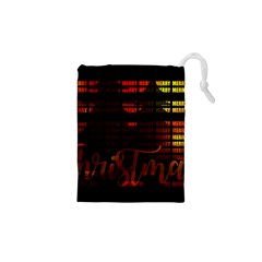 Christmas Advent Gloss Sparkle Drawstring Pouches (XS)