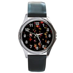 Christmas Star Advent Golden Round Metal Watch