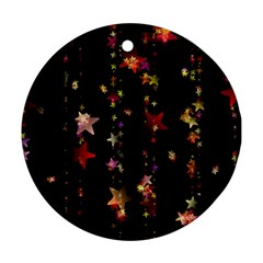 Christmas Star Advent Golden Ornament (Round)