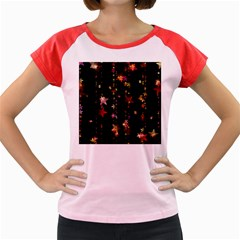Christmas Star Advent Golden Women s Cap Sleeve T-Shirt
