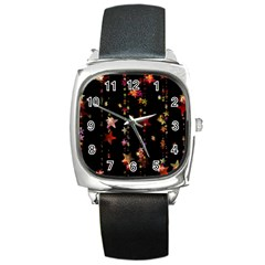 Christmas Star Advent Golden Square Metal Watch