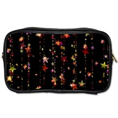 Christmas Star Advent Golden Toiletries Bags 2-Side