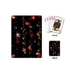 Christmas Star Advent Golden Playing Cards (Mini)