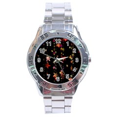 Christmas Star Advent Golden Stainless Steel Analogue Watch