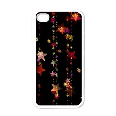 Christmas Star Advent Golden Apple iPhone 4 Case (White)