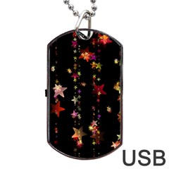 Christmas Star Advent Golden Dog Tag USB Flash (Two Sides)
