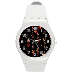 Christmas Star Advent Golden Round Plastic Sport Watch (M)