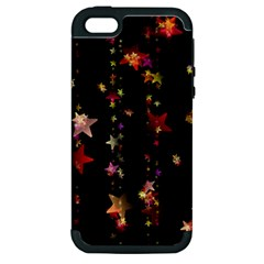 Christmas Star Advent Golden Apple iPhone 5 Hardshell Case (PC+Silicone)