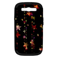 Christmas Star Advent Golden Samsung Galaxy S III Hardshell Case (PC+Silicone)