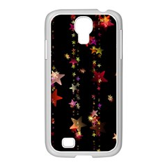 Christmas Star Advent Golden Samsung GALAXY S4 I9500/ I9505 Case (White)