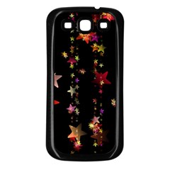 Christmas Star Advent Golden Samsung Galaxy S3 Back Case (Black)