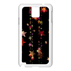 Christmas Star Advent Golden Samsung Galaxy Note 3 N9005 Case (White)
