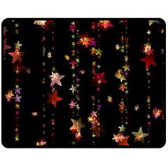 Christmas Star Advent Golden Double Sided Fleece Blanket (Medium)