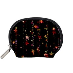 Christmas Star Advent Golden Accessory Pouches (Small)