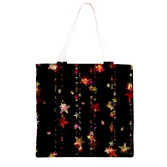 Christmas Star Advent Golden Grocery Light Tote Bag